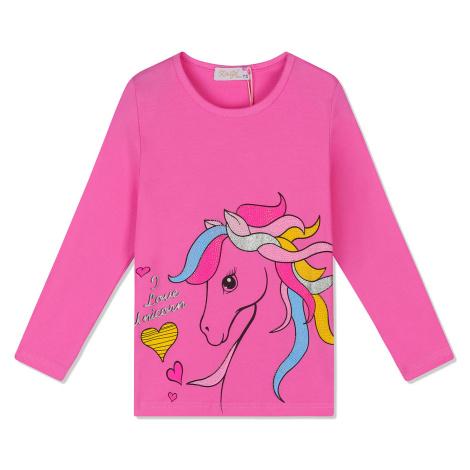 Dívčí triko - KUGO JC0721, tmavě růžová