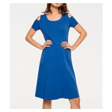 RICK CARDONA ŽERZEJOVÉ ŠATY RICK CARDONA, šaty modré