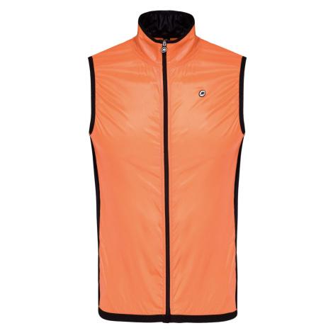 Cyklistická vesta Assos MILLE GT WIND VEST oranžová