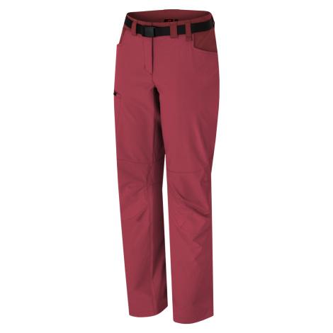 HANNAH MOA Dámské outdoorové kalhoty 10011109HHX01 deep claret/sun-dried tomato