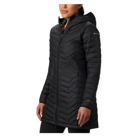 Columbia POWDER LITE MID JACKET černá - Dámská dlouhá zimní bunda