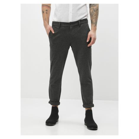 ONLY & SONS šedé pánské kalhoty Mark