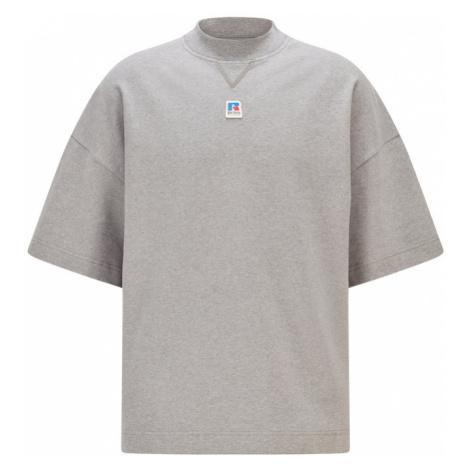 BOSS Casual Tričko 'Russell Athletic' šedá