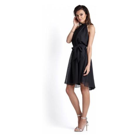 Dámské šifónové šaty v černé barvě 216 IVON