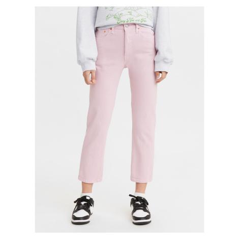 501 Crop Dark Lilac Jeans Levi's® Růžová Levi´s