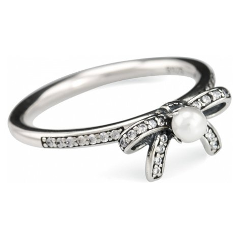iocel.cz Stříbrný prsten Mašle s perlou IPR014 Velikost: 56