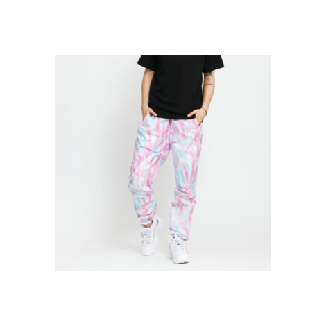 Urban Classics Ladies Tie Dye Track Pants růžové / světle modré