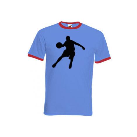 Pánské tričko s kontrastními lemy Basketbal