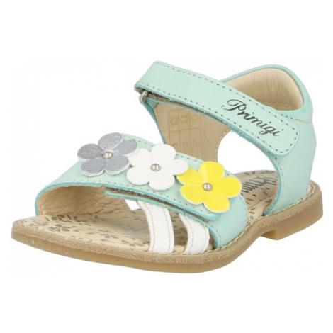 PRIMIGI Sandály světlemodrá / bílá / žlutá / šedá