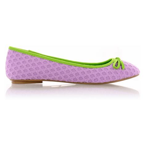 Pletené fialové baleríny Qube