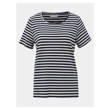 Bílo-modré pruhované basic tričko VILA Sus