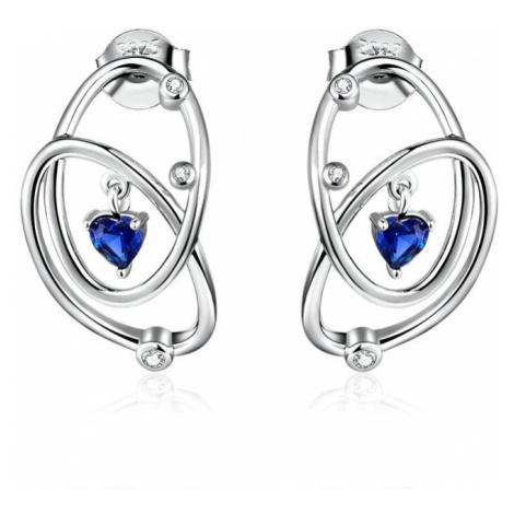 Linda's Jewelry Stříbrné náušnice Galaxy Ag 925/1000 IN145