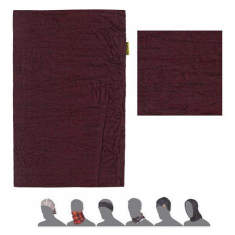 MERINO AIR Multifunkční šátek 19200063 tm.vínová UNI
