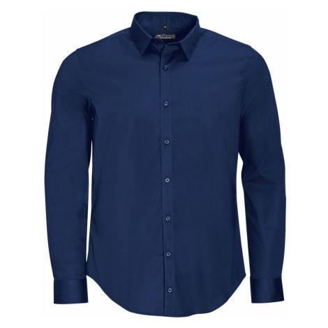 SOĽS Pánská košile dlouhý rukáv BLAKE MEN 01426228 Dark blue