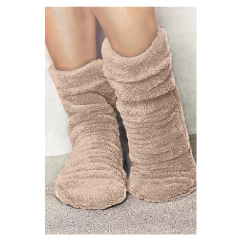 Hřejivé ponožky Angora béžová