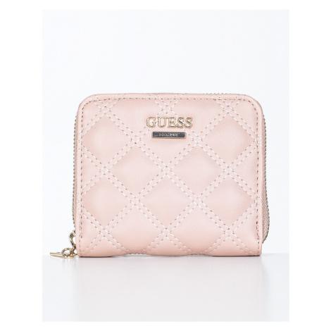 Guess GUESS dámská růžová peněženka CESSILY SML ZIP AROUND
