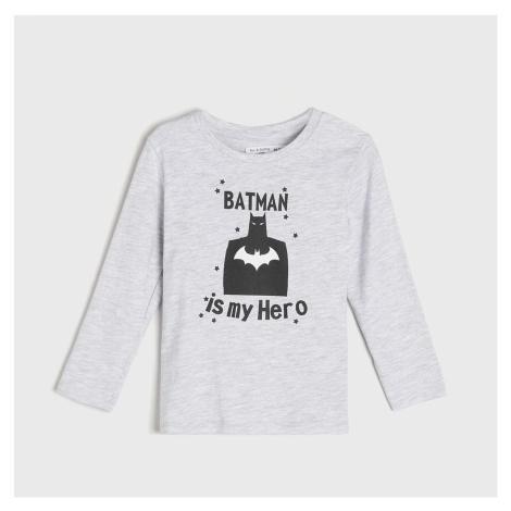 Sinsay - Tričko s dlouhými rukávy BATMAN - Světle šedá