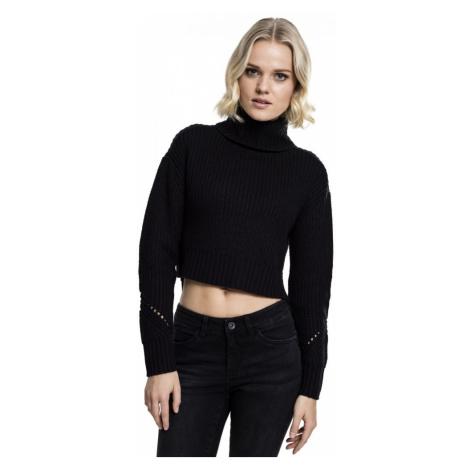 Ladies HiLo Turtleneck Sweater - black Urban Classics