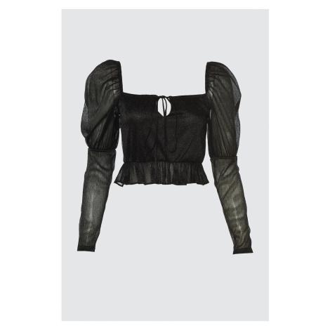 Trendyol Black Collar Detailed Blouse