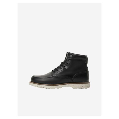 Černé kotníkové boty Jack & Jones Lucas