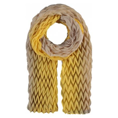 Fraas Dámský plisovaný ombré šátek 602035 - zlatá