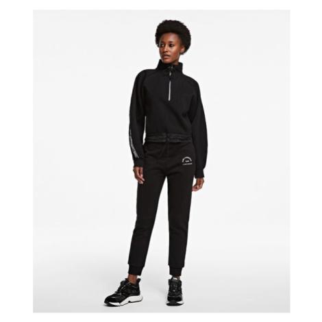 Tepláky Karl Lagerfeld Address Logo Sweat Pants - Černá