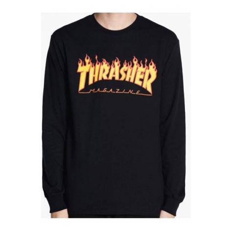 TRIKO THRASHER FLAME L/S - černá