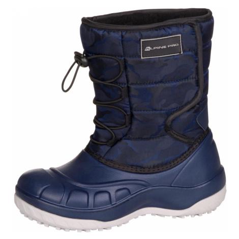 ALPINE PRO AMARO Dětská zimní obuv KBTM175602 mood indigo