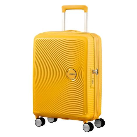 American Tourister Kabinový cestovní kufr Soundbox Spinner EXP 32G 35,5/41 l - golden yellow