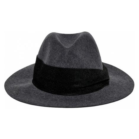 ONLY Dámský klobouk ONLCOWBY CITY WOOL HAT Dark Grey Melange SHINY RIBBON