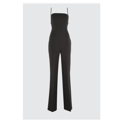 Trendyol Black Back Detailed Jumpsuit
