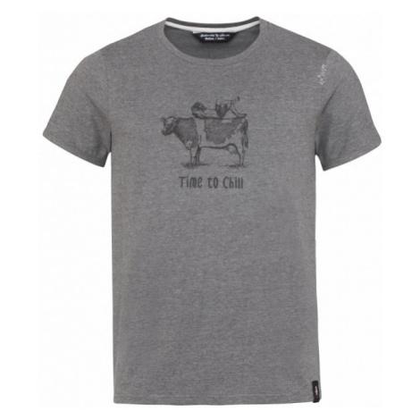 Pánské tričko Chillaz Cow anthracite melange