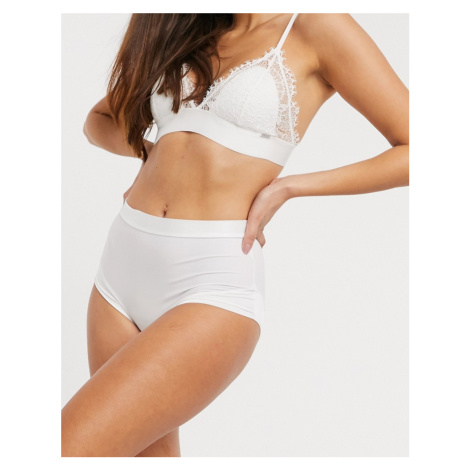 Lindex high waist light shaping brief in white