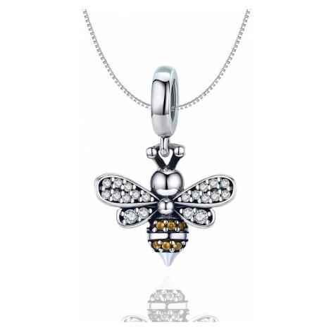 Linda's Jewelry Stříbrný náhrdelník Pilná Včelka Ag 925/1000 INH087