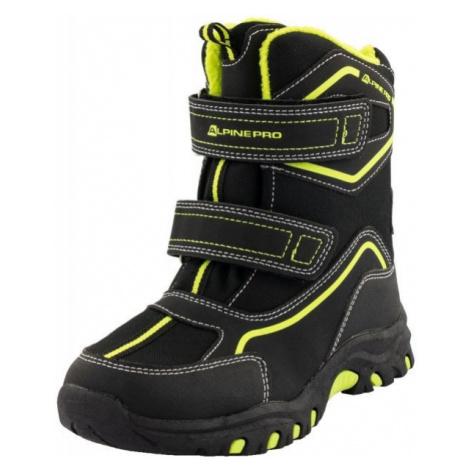 ALPINE PRO MUNDO černá - Dětská zimní obuv