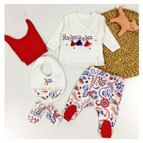 5-dílná kojenecká souprava Folklórní styl