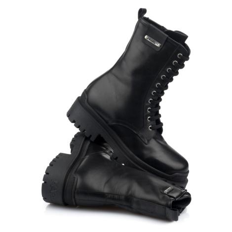 Kotníková Obuv Karl Lagerfeld Biker Ii Midi Leg Lace Boot - Černá