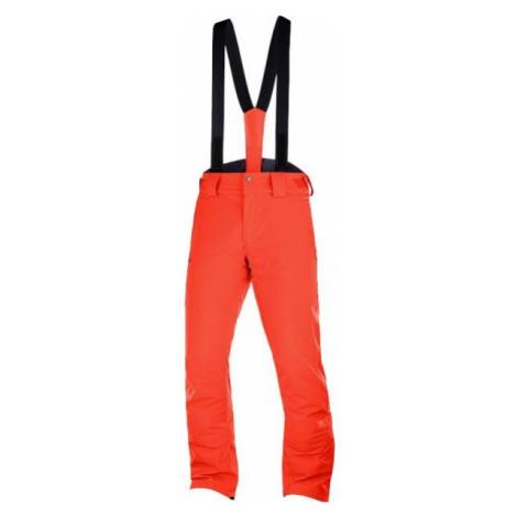 Salomon STORMSEASON oranžová - Pánské lyžařské kalhoty