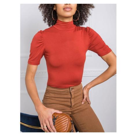 RUE PARIS Light brown turtleneck blouse Fashionhunters