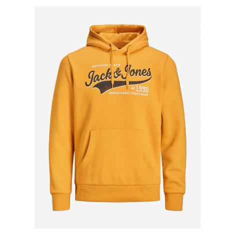 Logo Mikina Jack & Jones Oranžová