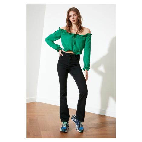 Trendyol Black High Waist Flare Jeans