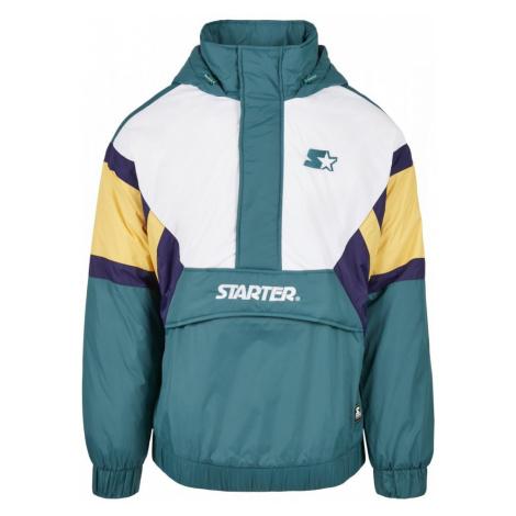 Starter Color Block Half Zip Retro Jacket - retro green/wht/by/s prpl