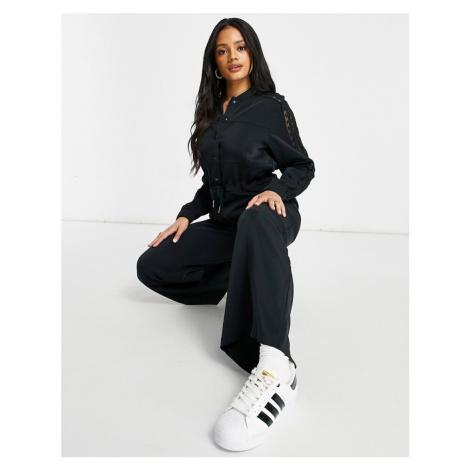 Adidas Originals Bellista lace jumpsuit in black