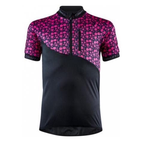 Dětský cyklodres CRAFT Bike JR černá/růžová