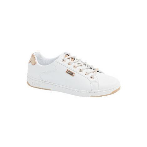 Bílé tenisky Esprit se zlatými detaily