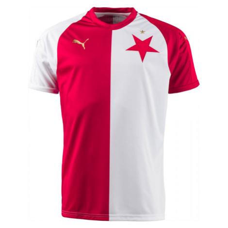 Puma SK SLAVIA HOME JSY KIDS bílá - Originální fotbalový dres