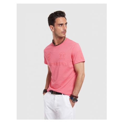 Tričko La Martina Man T-Shirt S/Sleeves Jersey - Růžová