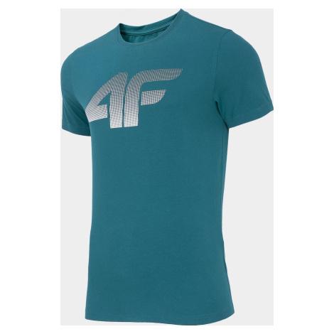 Pánské tričko 4F TSM302 Modré Denim