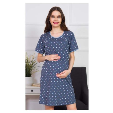 Dámská noční košile mateřská Silvie, XL, tmavě modrá Vienetta Secret