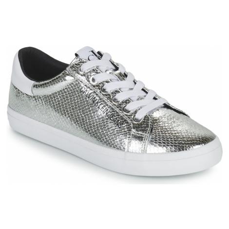 Calvin Klein Jeans LOW PROFILE LACEUP PYT PES Stříbrná
